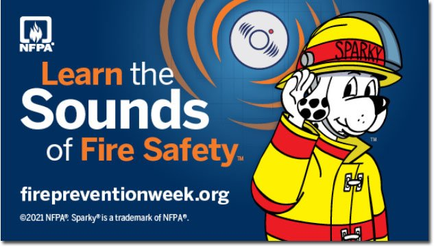 Snoopy the Fire Dog has a message for Fire Prevention Week