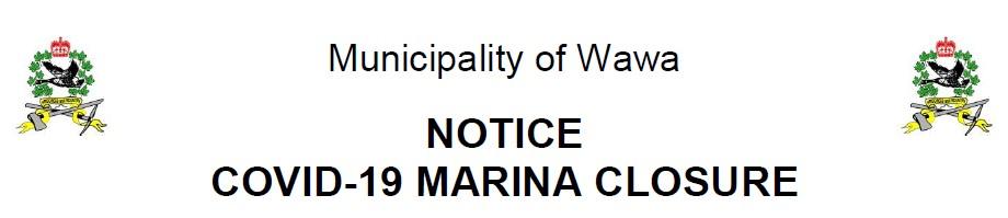 Notice - Municipal Marina